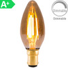 4w LED SBC Candle Amber Dimmable [3466341] | Lampspares.co.uk