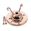 Copper 3 hook ceiling plate with 10mm hole & Screws 3315594