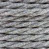 Natural Grey Linen Twisted Fabric Cable 3 Core 4200451