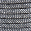 Anthracite ZigZag Cotton Round Fabric Cable 3 Core 4200450 | Lampspares.co.uk