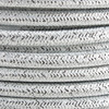 Silver Glitter Round Fabric Cable 3 Core 4200445 | Lampspares.co.uk
