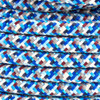 Pixel Blue Round Fabric Cable 3 Core 4200442