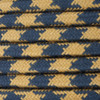 Gold and Dark Grey Round Houndstooth 3 Core Fabric Cotton Cable 4545794 | Lampspares.co.uk