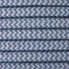 Blue and Grey Round ZigZag 3 Core Fabric Cotton Cable 4545791 | Lampspares.co.uk