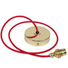 Brass Pendant Kit 1m Cable- Red 4700394