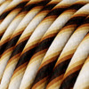 HD Fuzzy Brown Twist Round Fabric Cable 3 Core 4774541 | Lampspares.co.uk
