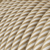 Haswer Jute and Cotton Round Fabric Cable 3 Core 4774531