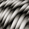 HD Fuzzy Grey Twist Round Fabric Cable 3 Core 4774530