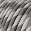 HD Silver and Grey Twist Round Fabric Cable 3 Core 4774527