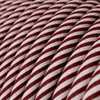 HD Pink and Maroon Round Fabric Cable 3 Core 4774522 | Lampspares.co.uk