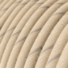Oat Cotton and Linen Round Fabric Cable 3 Core 4774512 | Lampspares.co.uk