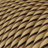 Tobacco Jute and Cotton Round Fabric Cable 3 Core 4774510 | Lampspares.co.uk