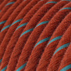 Brick and Light Blue Cotton Round Fabric Cable 3 Core 4774508