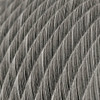 Black Melange Cotton Round Fabric Cable 3 Core 4774507