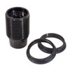 E12 Black Threaded Lampholder with Shade Rings 4861077