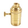 """E26 Brass Threaded Switched Lampholder With 1/8"""" IP Thread 5005073"""
