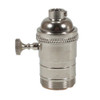 """E26 Nickel Threaded Switched Lampholder With 1/8"""" IP Thread 5005075"""
