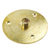 Brass 10mm Backplate 50mm Large with 3 Fixings 5580977