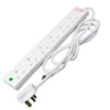 White Surge Protected 6 way 2 Mtr Extension Socket with Neon 6072213