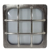 Brass Square Frosted Bulkhead IP64 - Satin Nickel 6215866