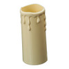 Ivory Candle Tube Cover With Drip Effect 34 x 80mm [7167382]