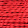 3 Core Braided Red Individually Twisted 0.75mm PLU12322 | Lampspares.co.uk