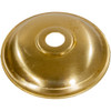 60mm Brass Plate With 10mm Hole PLU6820 | Lampspares.co.uk