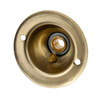 Brass Plated 65mm Ceiling Rose With Hook [PLU28732]