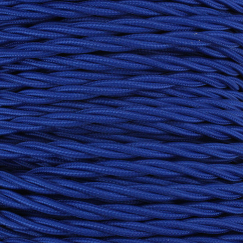 3 Core Braided Royal Blue Individually Twisted 0.75mm PLU65477 | Lampspares.co.uk