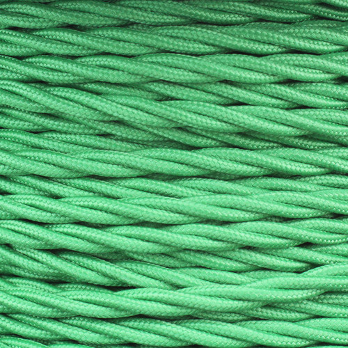 3 Core Green Individually Twisted Braided Flex 0.75mm PLU48670 | Lampspares.co.uk