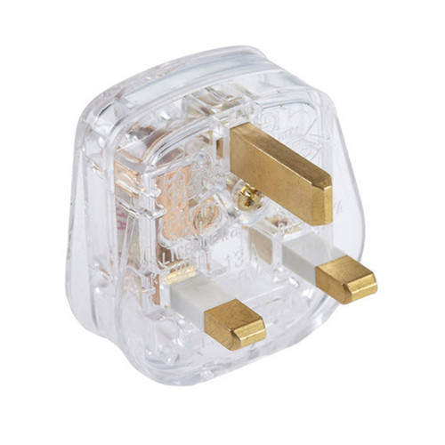 Transparent 13A Plug Top with 3A Fuse [PLU82567] | Lampspares.co.uk
