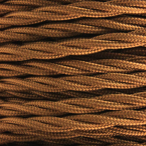 3 Core Braided Antique Brass Individually Twisted 0.75mm PLU10268