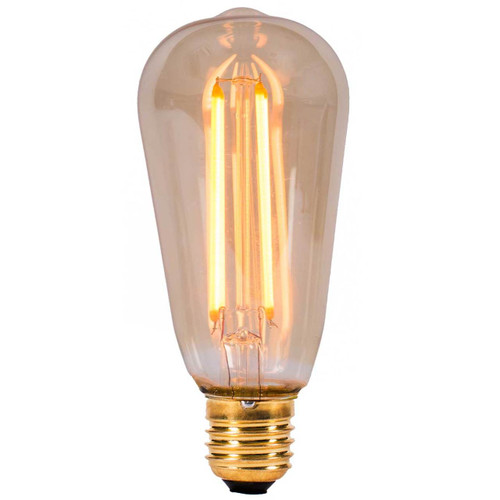 4W LED Vintage Squirrel Cage Amber E27 [01462] | Lampspares.co.uk