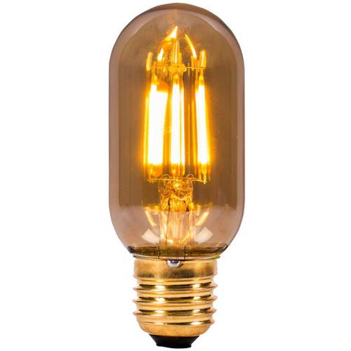 4W LED Vintage Tubular Amber E27 [01439] | Lampspares.co.uk