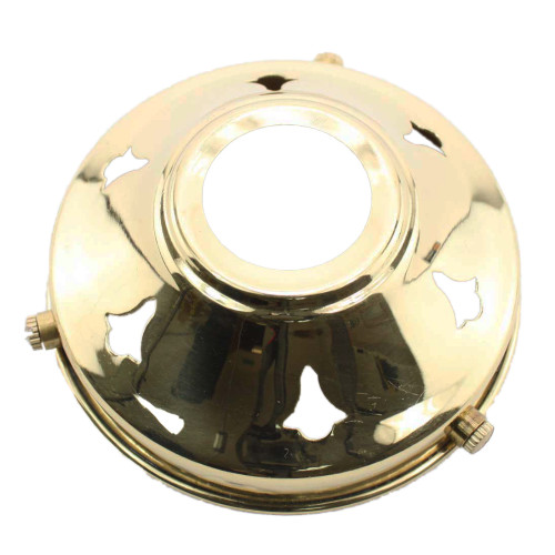 """Brass 3 1/4"""" Gallery with 28mm hole PLU10273"""