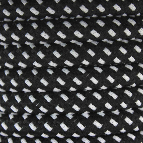 Black and White Round Fabric Cable 3Core 2166365 | Lampspares.co.uk