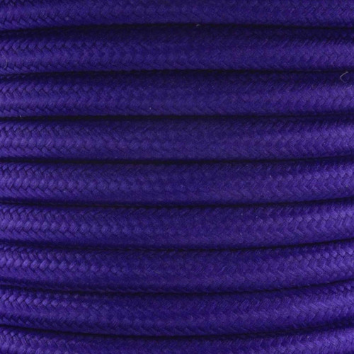 Purple Round Fabric Cable 3Core 2166353 | Lampspares.co.uk