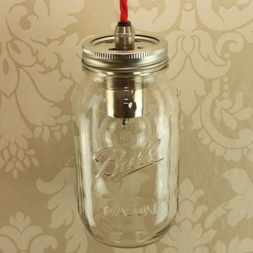 Ball Mason Quart Single with Wired Lampholder [PLU17085] | Lampspares.co.uk