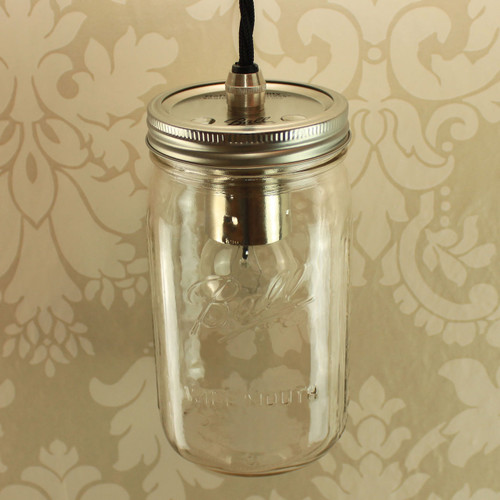 Ball Mason Quart WideMouth Single with Wired Lampholder [PLU83889] | Lampspares.co.uk
