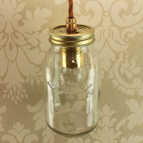 Kilner 1Ltr Single with Wired Lampholder