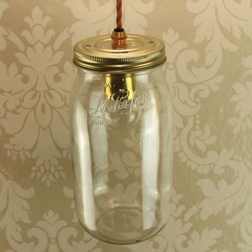 Le Parfait 2Ltr Super Jar Single with Wired Lampholder [PLU43812] | Lampspares.co.uk