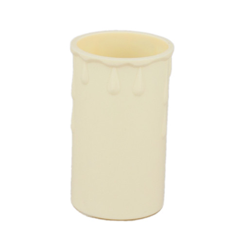 Candle Drip Tube Ivory 37 x 70mm [PLU47467] | Lampspares.co.uk