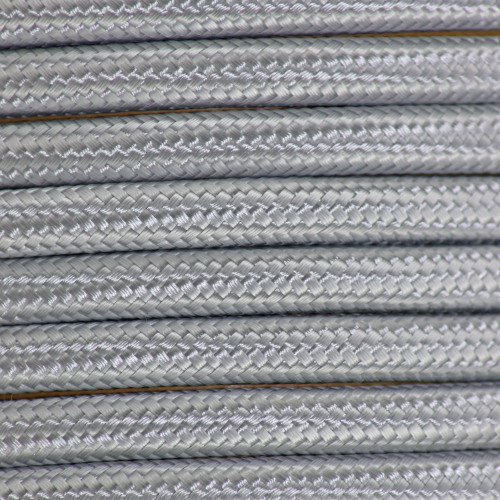 Silver 3 Core Round Braided Flex PLU24272 | Lampspares.co.uk