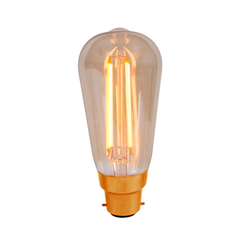 4W Led Vintage Squirrel Cage Amber BC [01461] | Lampspares.co.uk