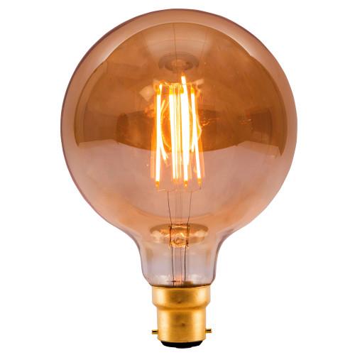 4W Led Vintage 80MM Globe Amber BC [01463]