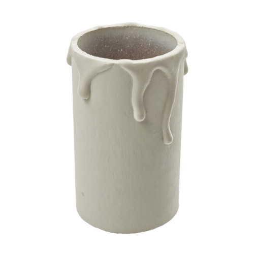 Ivory Candle Tube Cover With Drip Effect 32 x 60mm [3037983]