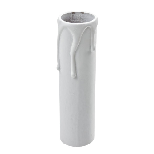 White Candle Tube Cover With Drip Effect 24 x 100mm [3037339]