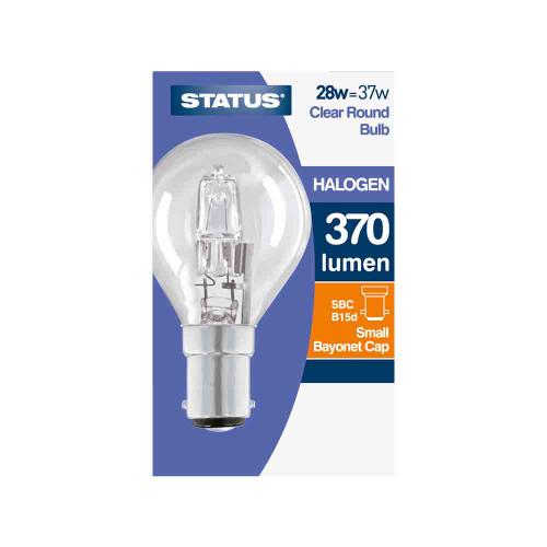 28w SBC Golf Ball Energy Saving Halogen Lamp [3105944] | Lampspares.co.uk