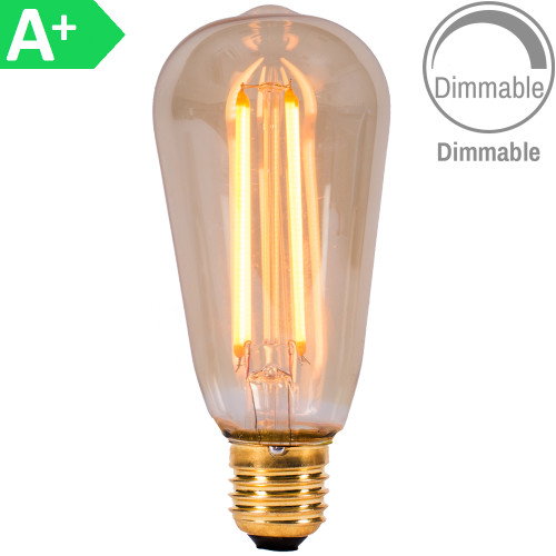 4w LED ES/E27 Squirrel Amber Dimmable [3466336] | Lampspares.co.uk