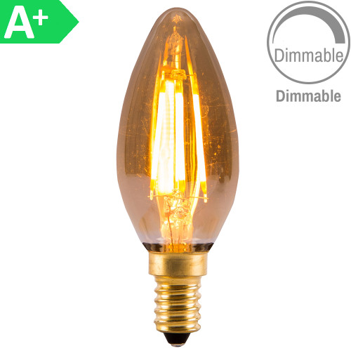 4w LED SES Candle Amber Dimmable [3466187] | Lampspares.co.uk